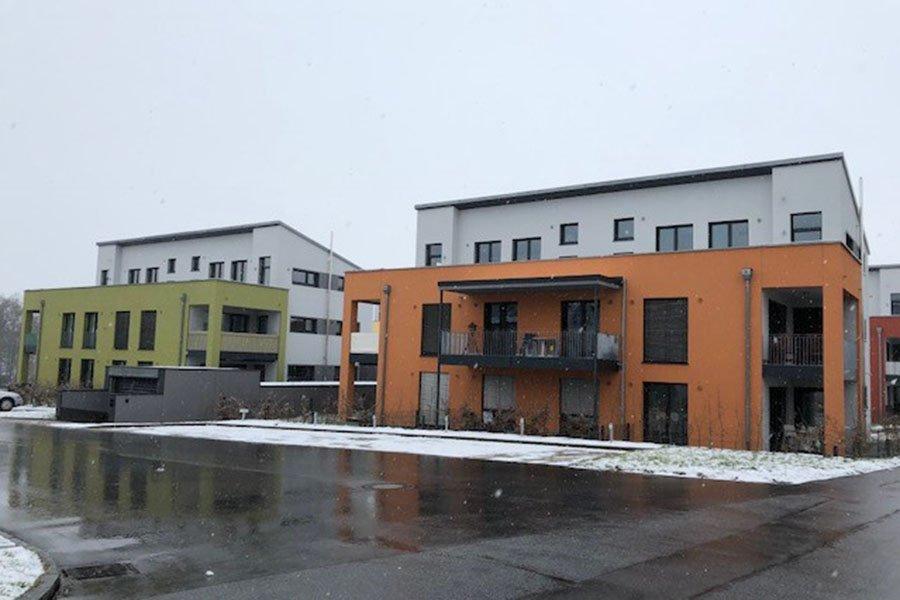 Neubau einer Wohnanlage in Passau-Neustift.