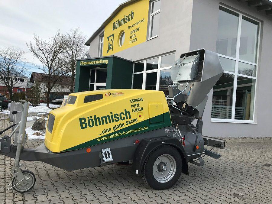 Estrichmaschinenpark mit dem MIXMAN von GB Machines aus Schloß Holte  wieder auf dem neuesten Stand gebracht.