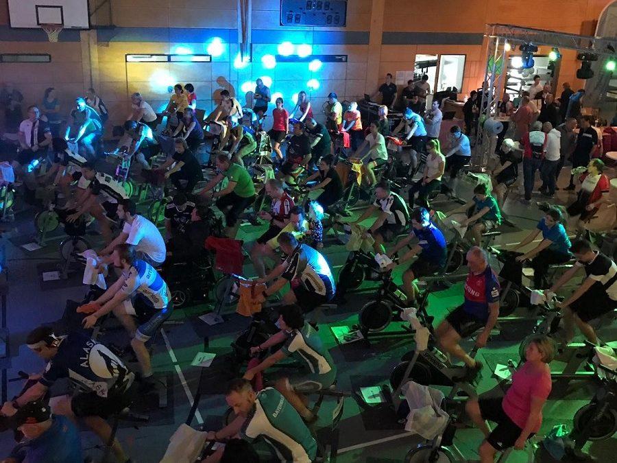 Auch wir waren wieder dabei beim  5. INDOORCYCLING 24H Spendenmarathon.